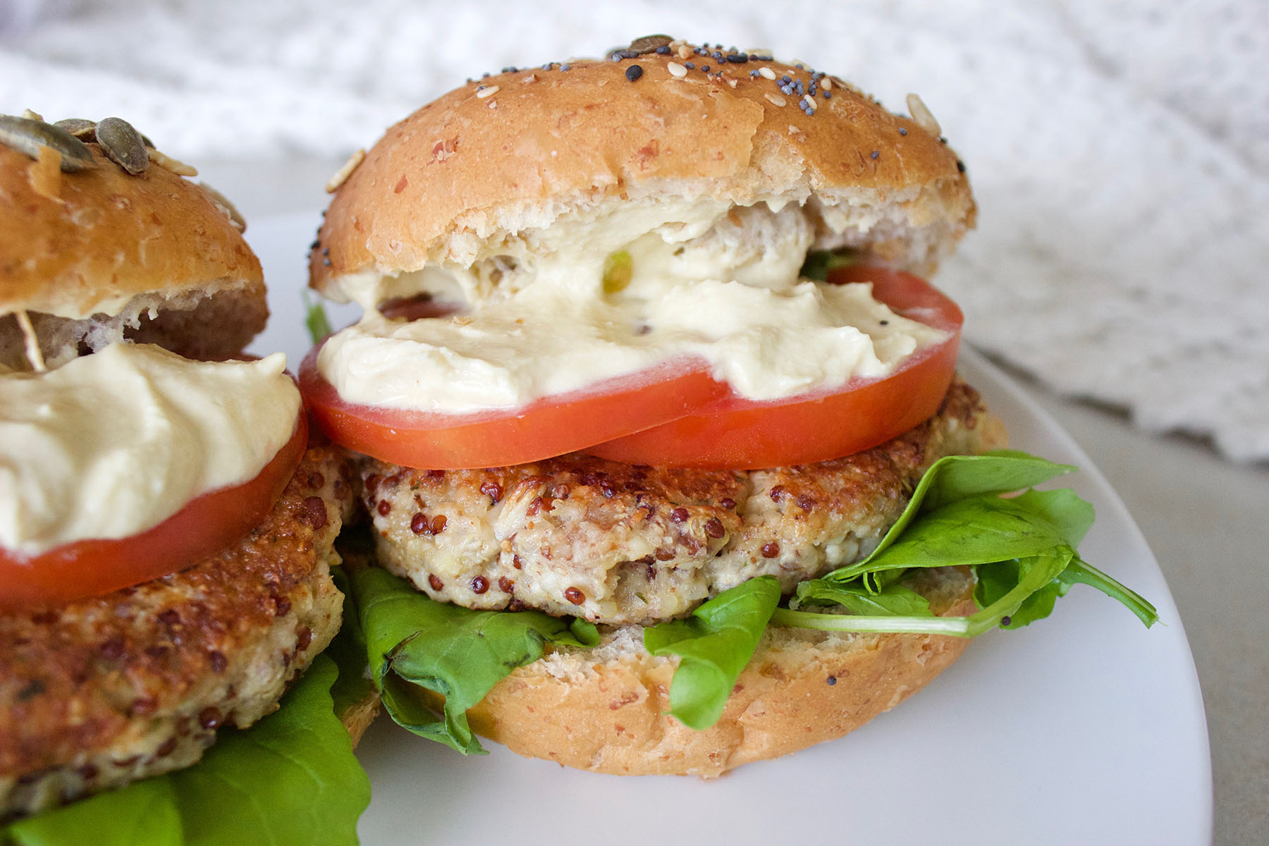 Cauliflower & Quinoa Burger Patties