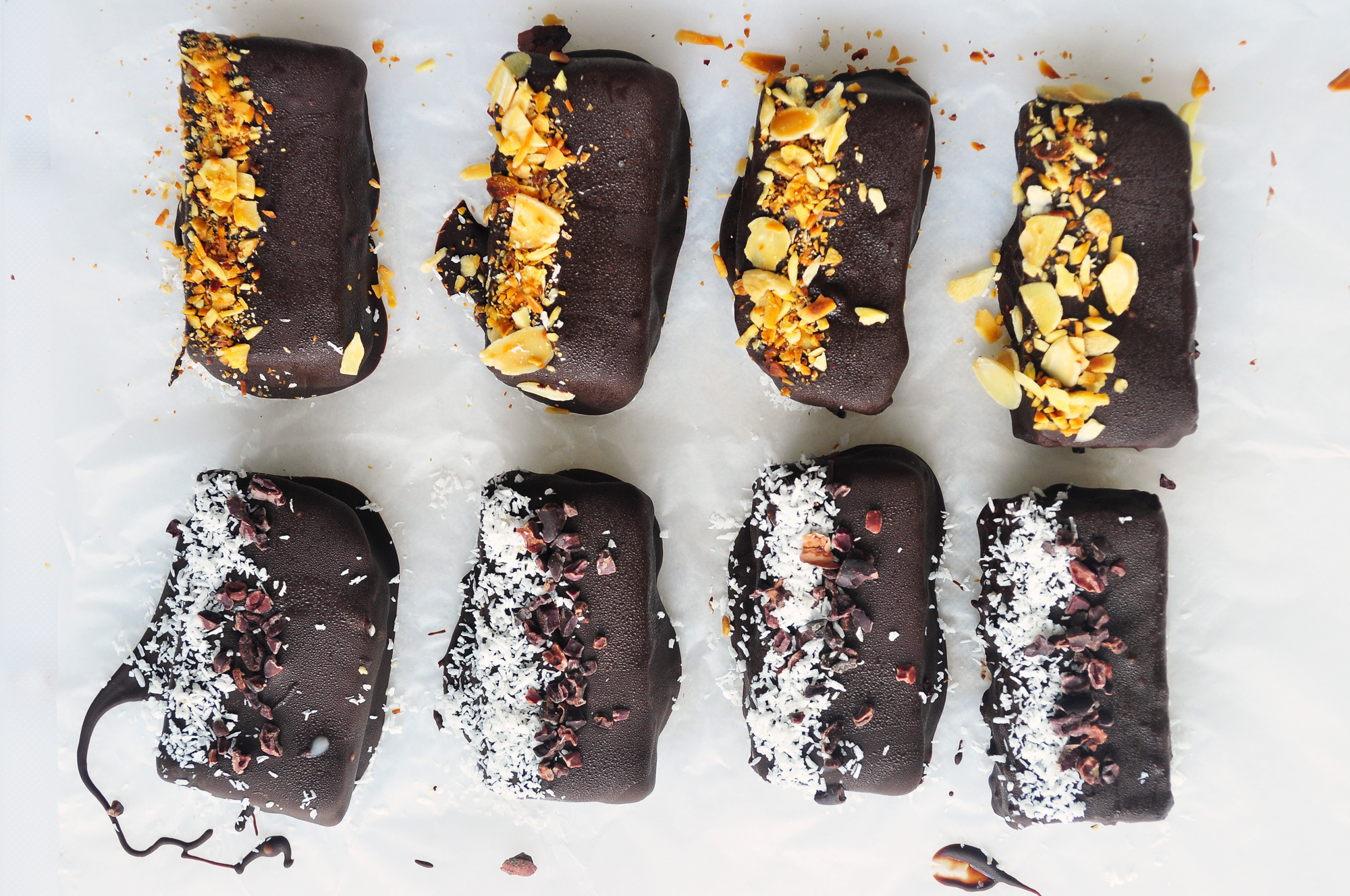 Chocolate covered healthy girl protein bars